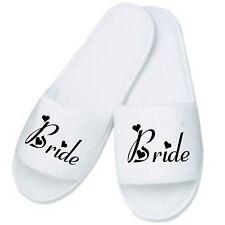 Personalised Wedding Slippers / Mules Ideal Gift Weddings Honeymoon Home Bride