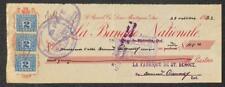 BILL OF EXCHANGE CANADA LA BANQUE NATIONALE REVENUE STAMPS 1923
