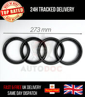 Audi Front Grille Gloss Black Badge Rings A4 A5 A6 S3 S4 S5 RS3 RS4 273mm x 94mm