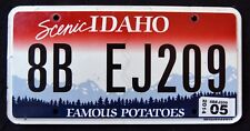 """IDAHO """" FAMOUS POTATOES - SCENIC - MOUNTAINS """" 2014 ID Graphic License Plate"""