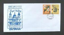 Guyana-1981-Charles & Diana Royal Wedding FDC-Georgetown