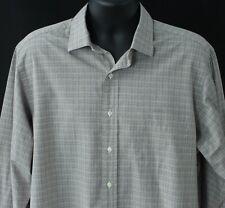Polo Ralph Lauren Philip 17 34/35 Mens Dress Shirt Gray Work Business Designer