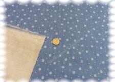 Jeans Teddy Denim Baumwolle hellblau 50 cm Teddyfuttter Doubleface Fleece