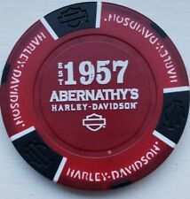 Harley Davidson Poker Chip CLOSED Red Abernathy's 1957 Union City Tennessee