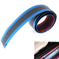 5CM*1M Car sticker carbon fiber blue rubber door sill protector edge guard st~PA