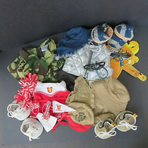 28 PIECE BUILD A BEAR LOT, CLOTHES, SHOES, HATS, ACCESSORIES - CHEERLEADER, CAMP