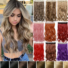 Long One Piece Clip In As Human Hair Extensions Full Head Balayage 100% Natural