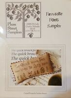 Plum Street Samplers Favorite Font Sampler Cross Stitch 2011 PATTERN ONLY