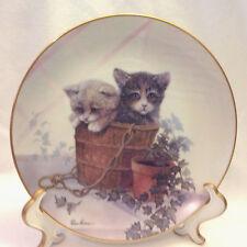 Danbury Mint Kitten Cousins Collection Artist Ruane Manning Double Trouble Plate