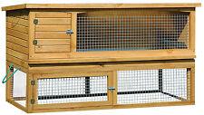 dobar XL Eichen-Holz Kaninchenstall Nagerstall groß Hasenstall Kleintierstall XL
