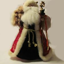 "VINTAGE ""FATHER CHRISTMAS"" ~ SANTA TREE TOPPER OR STAND ALONE TABLE DECORATION"