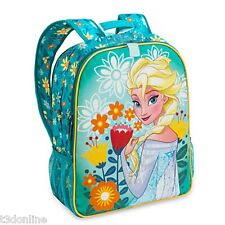 DISNEY FROZEN KIDS SCHOOL BACKPACK PRINCESS ANNA ELSA BAG REVERSIBLE AUTHENTIC