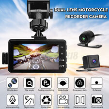3'' LCD Motorcycle Camera DVR 120° Dash Cam Dual Front Rear Driving Recorder
