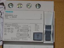 Siemens Allstromsensitiv FI-Schutzschalter 40A 4p 30mA Typ B 5SM3 344-4