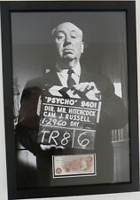 SIR ALFRED HITCHCOCK Signed 26x18 Framed Photo Display PSYCHO COA
