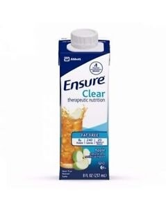 Ensure Clear Apple, 8 Ounce Recloseable Carton, Abbott 64903 - CASE OF 24