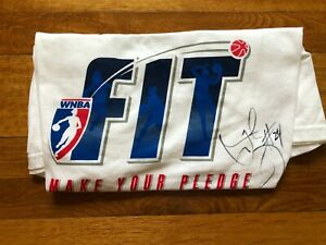2012 Tamika Catchings #24 Autographed WNBA    FIT   T-Shirt – Adult XL