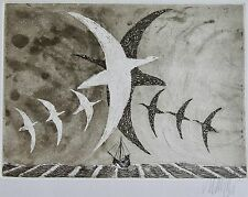 LARS BO : Eau forte signée. Galerie des peintres graveurs Frapier. Dimensions de