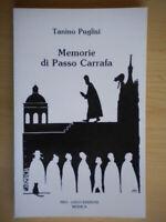Memorie di Passo CarrafaPuglisi ToninoModicaLibro storia Sicilia 203 Nuovo