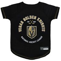 Vegas Golden Knights Officially Licensed NHL Dog Pet Tee Shirt, Black Sizes XS-L