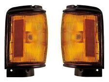 84 85 86 Toyota Pickup Cornerlight Pair Set Both NEW Black Trim Cornerlamp Truck