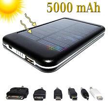 CARICABATTERIE SOLARE UNIVERSALE MINI MICRO USB DOCK 8 PIN 30 BATTERIA 5000 MAH