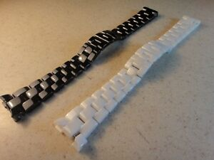 Ceramic white strap bracelet band compatible with Chanel J12 watch women 16mm