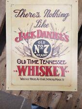 Jack Daniels Blechschild USA 30x40 cm Old No.7 beige  Whiskey Whisky Sign Schild