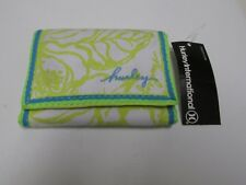 Hurley Trifold Double Snap Wallet Unisex Bright Colors