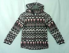 OLD NAVY Girls Gray Pattern Print Full Zip Fleece Hoodie Jacket, size S 6-7
