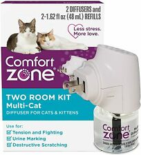 Comfort Zone MultiCat Two Room Diffuser Kit for Cats Kittens - New Open Box