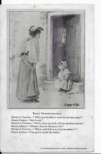 """RARE LOVELY EARLY VINTAGE,POSTCARD,ARTIST,GVNNING KING""""EARLY RESPONSIBILITIES"""""""