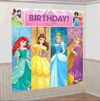 Disney Princess Birthday Birthday Party Scene Setter, 6ft, Belle Ariel, Rapunzel