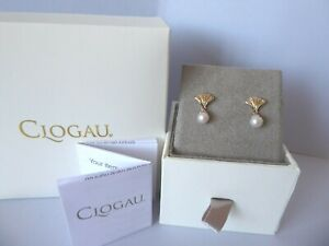 Clogau Gold, 9ct Yellow & Rose Gold Windsor Pearl Earrings RRP £250