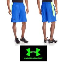 Under Armour Men's size Large Ua Raid Shorts in Ultra Blue/Neon Green Nwt