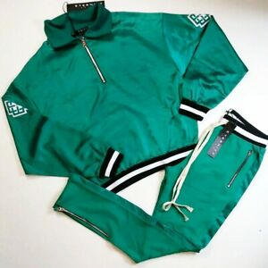 ETERNITY BC/AD green men 2p set 100%AUTHENTIC size LARGE TRACKSUIT Sweater&pants