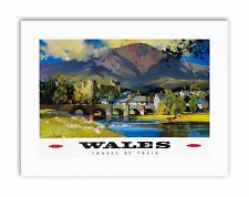 WALES BRITISH RAILWAYS NEW Poster Picture Travel Sport Canvas art Prints