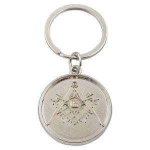 Freimaurer Schlüsselanhänger - Münze mit Zirkelsymbol