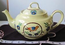 HB Quimper FaienceTeapot/Soleil Yellow/Bird & Flowers/Excellent Condition!