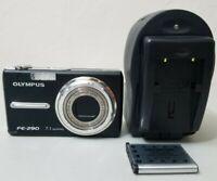 Olympus FE-290 7.1 MP Digital Camera Black *GOOD/TESTED*