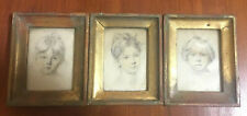 3 Framed Vintage Florentine Decorative Portraits Italian Decor
