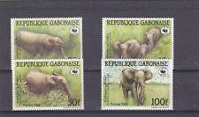 a131 - GABON - SG1000-1003 MNH 1988 AFRICAN ELEPHANT - WWF