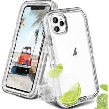 For iPhone 12 11 Pro Max X XR 6 7 8 Plus SE 2020 Shockproof Clear Cover Case