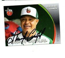 Jhonny Carvajal signed autographed 2019 Fort Wayne Tincaps baseball card c