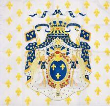 Drapeau Royaume De France Grandes Armes Pavillon Royaliste Royal French Flag Roi