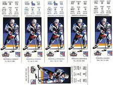 1993 1994 NEW YORK RANGERS TICKET STUBS - REGULAR SEASON - PICK ONE