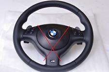 BMW SMG PADDLE STEERING WHEEL E39 M5 E46 M3 M stitch ZHP - NEW