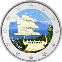 2 Euro Gedenkmünze Portugal 2015 coloriert / mit Farbe Farbmünze Timor