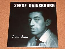 SERGE GAINSBOURG - Trois Et Quatre - NEW CD album in card sleeve