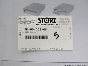 KARL STORZ AIDA DVD-M INSTRUCTION MANUAL FOR 20204502-1, 20204501-140